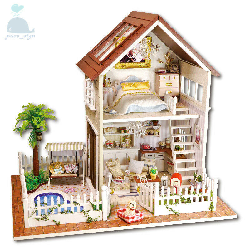 DIY Handcraft Miniature Project Kit Wooden Dolls House My