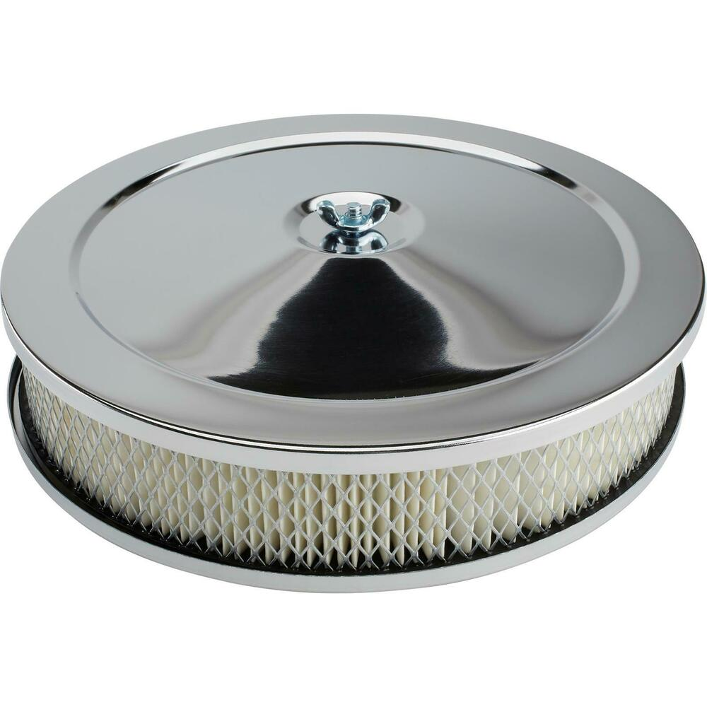 Four Bbl Carb Air Cleaners : New quot chrome plated steel air cleaner assembly bbl