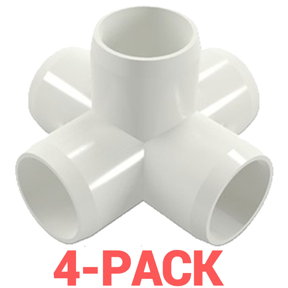 Quot inch way cross pvc fitting connector side outlet