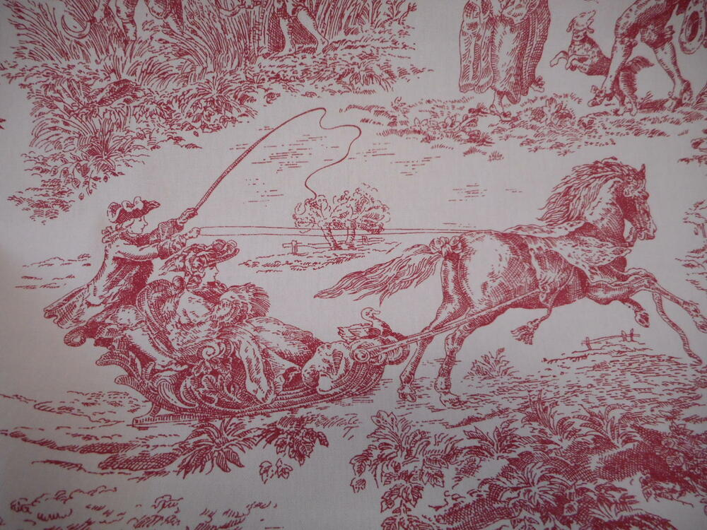 Ashley wilde archive toile de jouy 100 cotton curtain - Papel pintado toile de jouy ...
