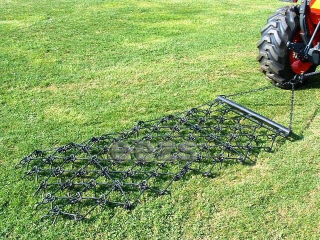 Landscape Rake Or Harrow : Chain harrow landscape arena drag atv rake