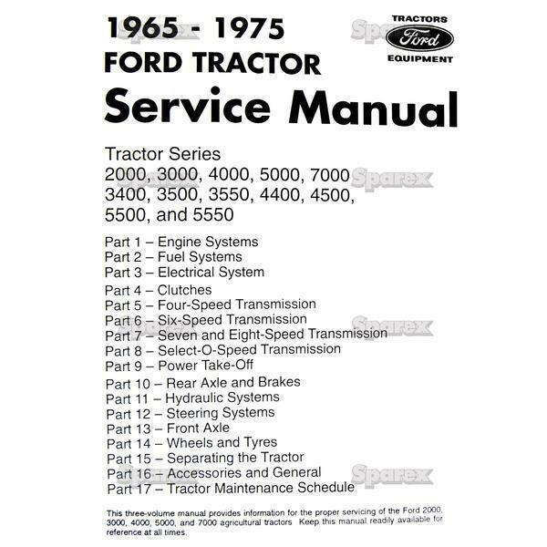 ford tractor factory shop service manual 3400 3500 3550