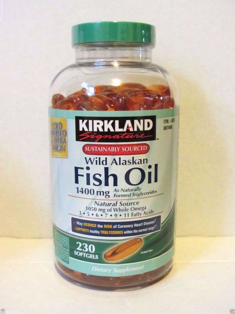 kirkland signature wild alaskan fish oil 1400mg 230