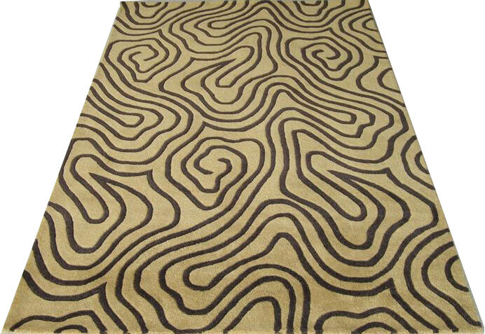 Indian Hand Tufted Modern Designer Wool Carpet Area Rugs
