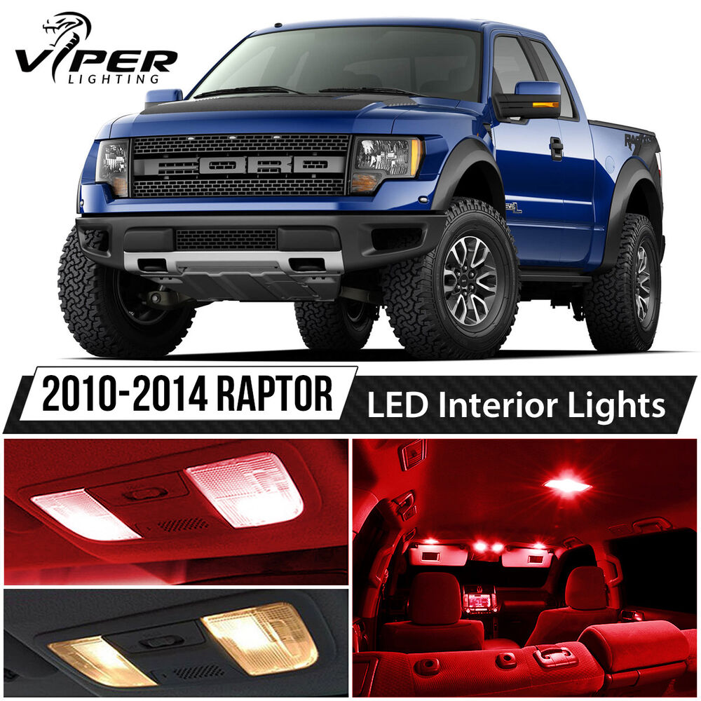 2010 2014 Ford F150 Svt Raptor Red Led Lights Interior Package Kit Ebay