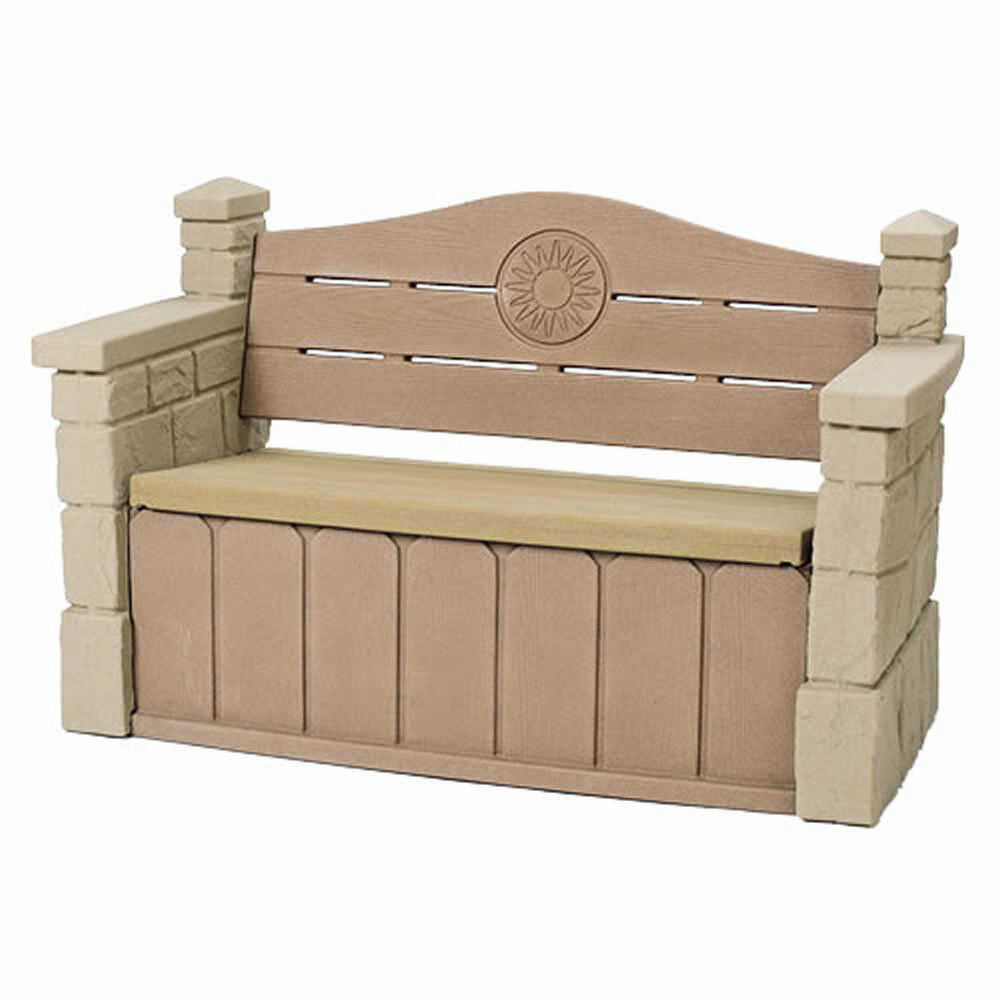 Step2 Outdoor Storage Bench Garden Deck Box Patio Seat Kids Play Yard Pool Toys Ebay