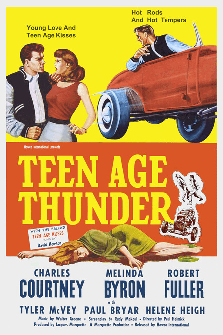1950s rock n roll hot rod movie poster teenage thunder