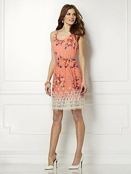 Eva Mendes Stella Lace Trim Dress for New York and Company ...