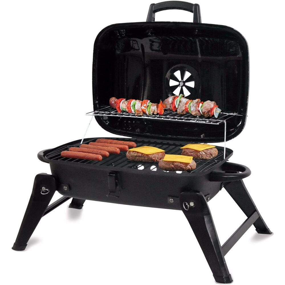 charcoal grill portable bbq backyard outdoor camping grilling barbeque smoker ebay. Black Bedroom Furniture Sets. Home Design Ideas