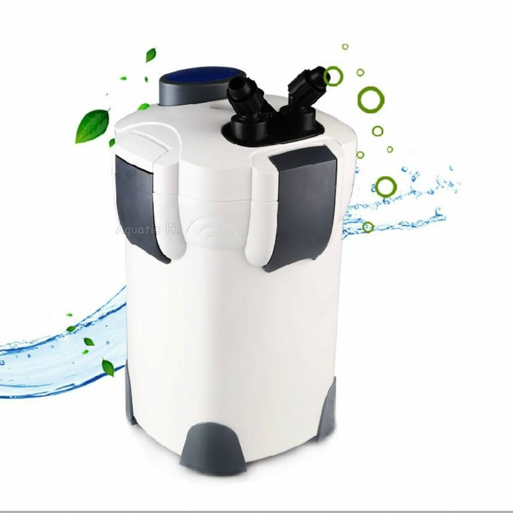 New 3 stage external aquarium canister filter 265gph with for Fish tank with built in filter