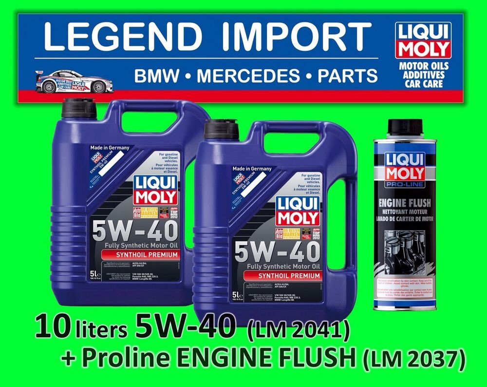 10 litre liqui moly synthoil premium 5w 40 full synthetic. Black Bedroom Furniture Sets. Home Design Ideas