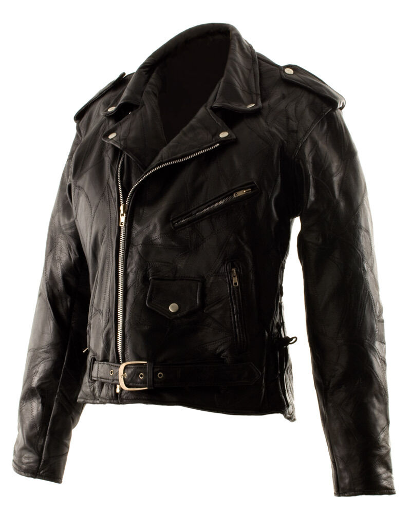 Classic motorcycle leather jacket