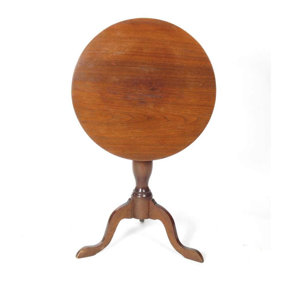 Antique 19th C Tilt Flip Top Round Candle Stand Small Side Table Folding |  EBay