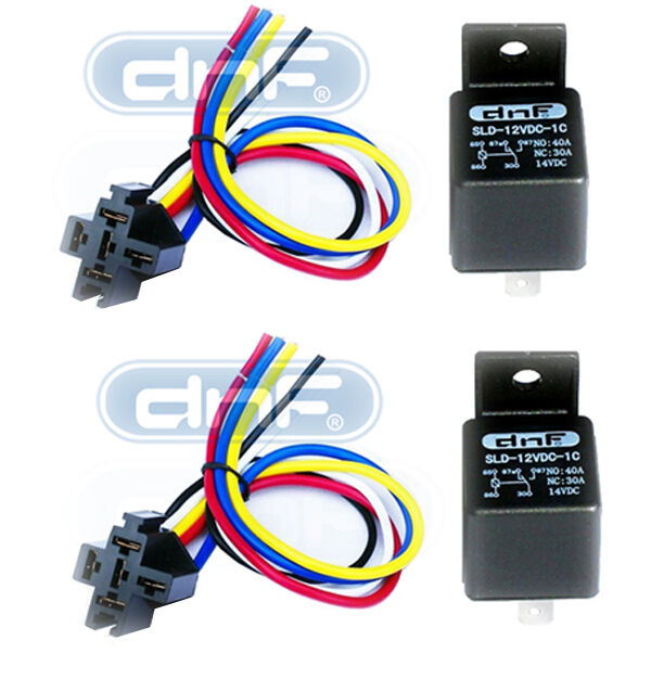 dnf 2 pair 12v 30 40 amp bosch style relay harness. Black Bedroom Furniture Sets. Home Design Ideas