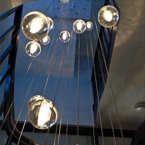 Diy crystal ball star pendant light ceiling hanging lamp for Diy led chandelier