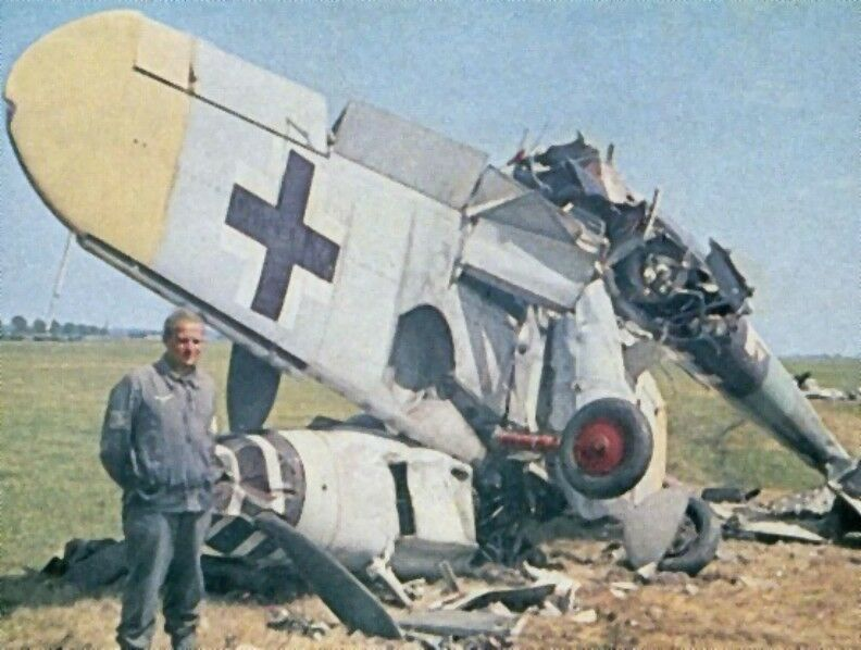 WW2 Color Photo Luftwaffe Me109 Crashed Germany WWII | eBay