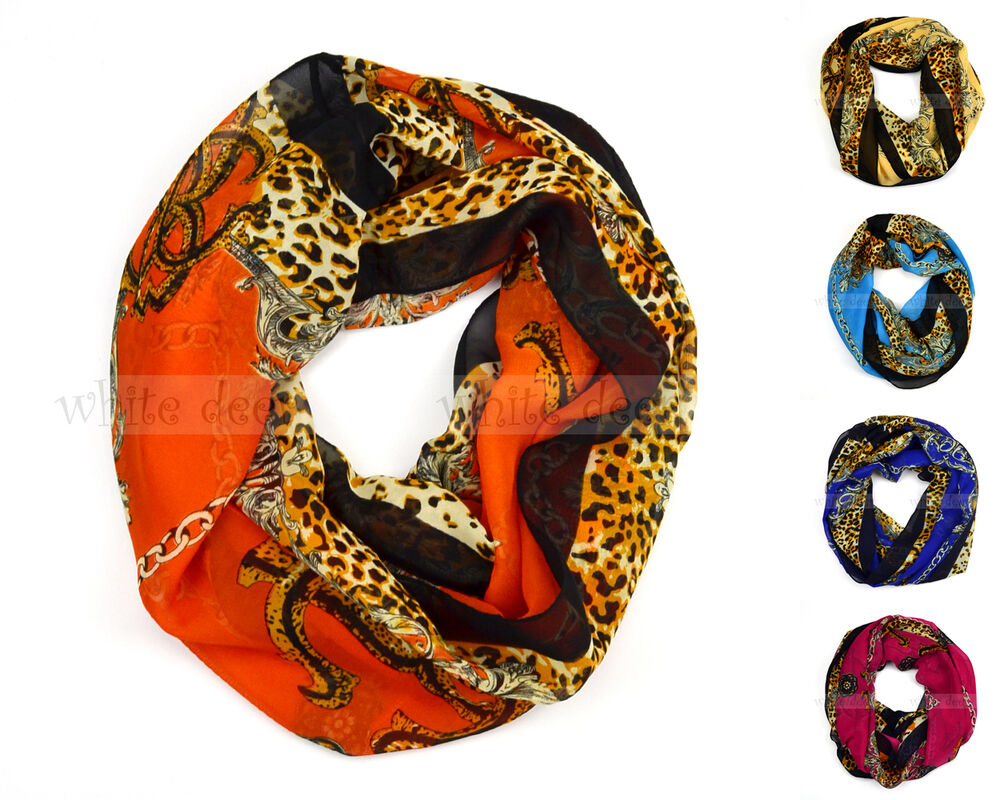 Chain Floral Anchor Leopard Print Circle Loop Infinity