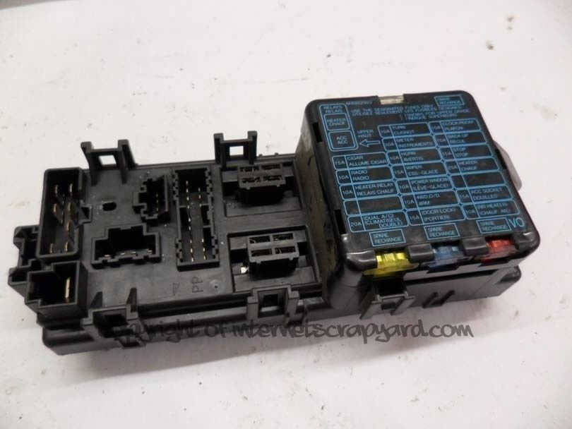 mitsubishi shogun pajero 91-98 3.0 v6 base fuses relay ... fuse box for mitsubishi pajero