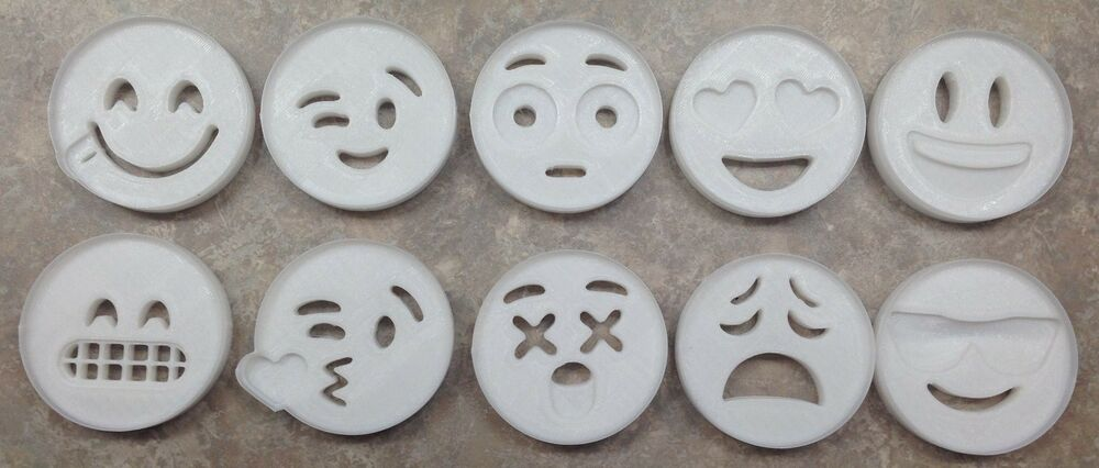 Emoji face cookie cutter 3d printed plastic ebay for 3d printer cake decoration