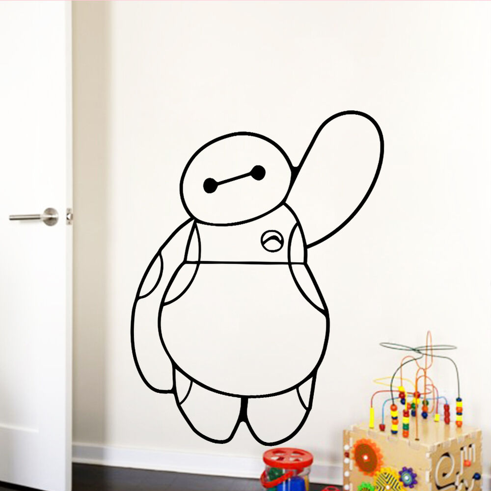 Baymax Big Hero 6 Vinyl Decal Removable Wall Sticker Kids