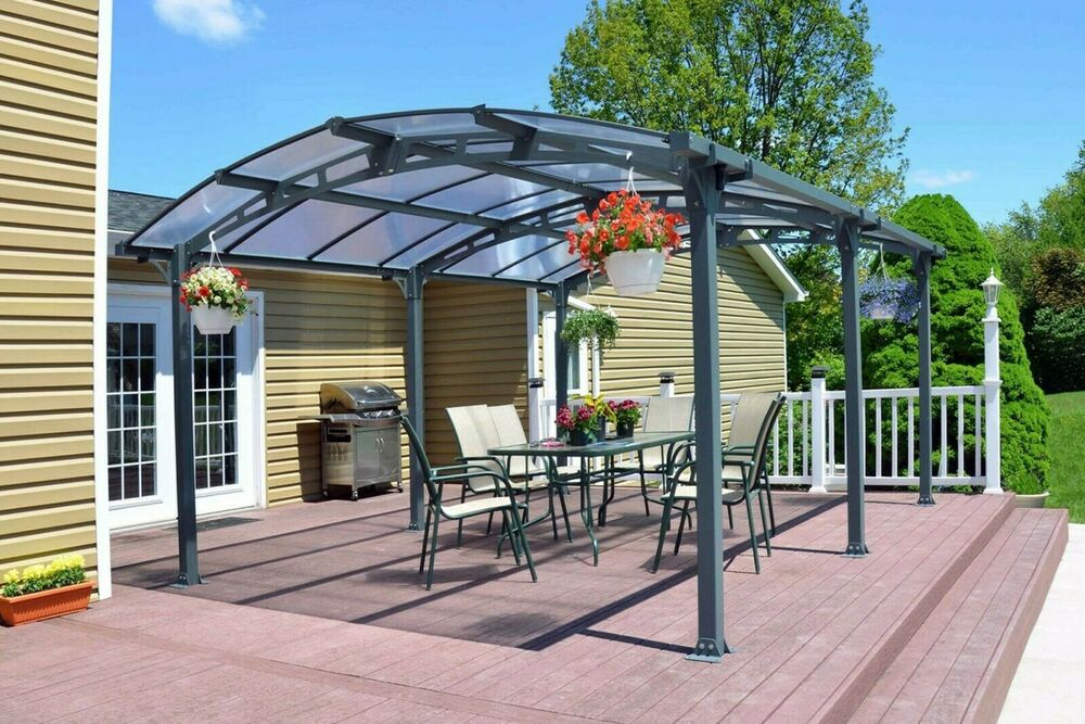 Metal Canopy Carport Pergola Garage Vehicle Shelter Gazebo