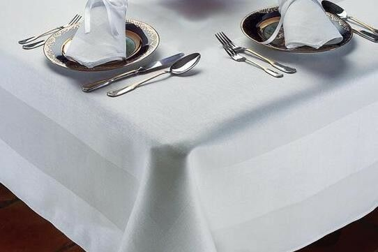 Damask egyptian cotton tablecloth satin band dinner for White cotton table cloth