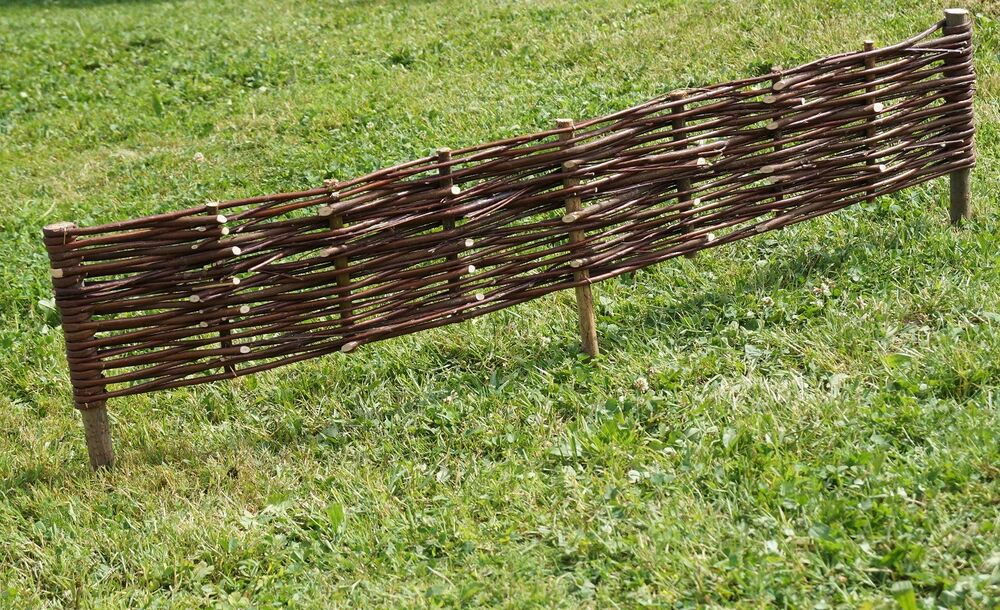 Willow Garden Border Edging Fence 1m 39 Long Tall 0
