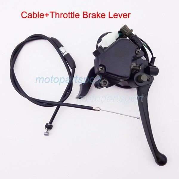 Cable Brake Lever : Thumb throttle cable accelerator brake lever