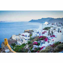 OIA GREECE CITYSCAPE LANDSCAPE POSTER PRINT 24x36 HIGH RES 9MIL PAPER