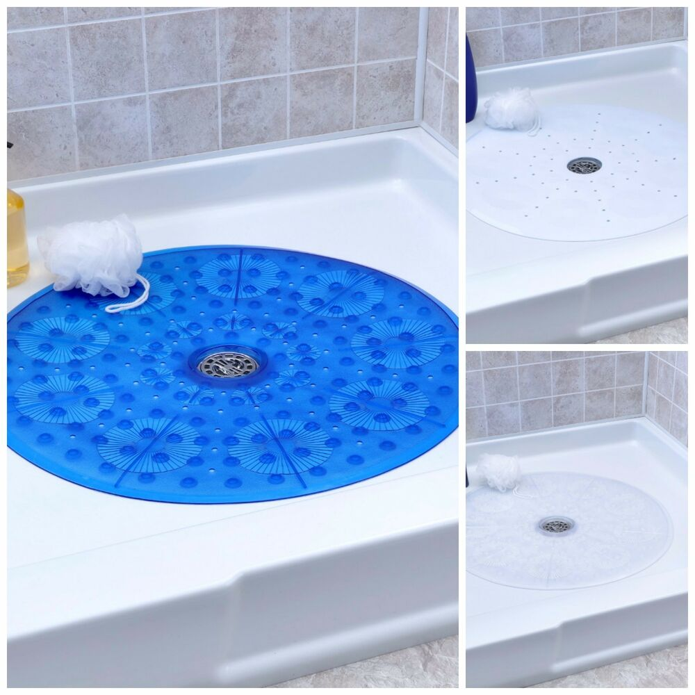 "No Slip Round Shower Mat With Suction Cups: 23"" Diameter"