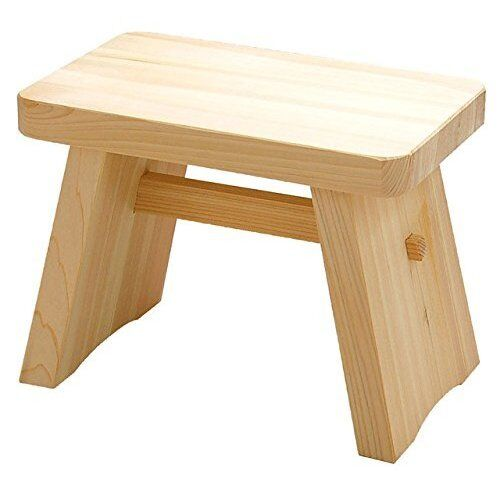 Wooden Japanese Stools ~ Japanese hinoki bath chair natural wood stool size hl