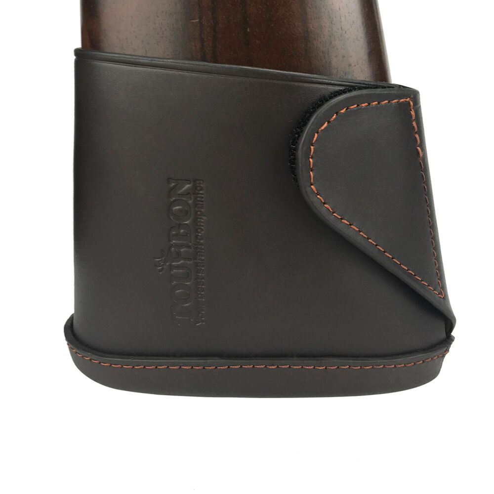 Tourbon slip on recoil pad buttstock genuine leather extension gun