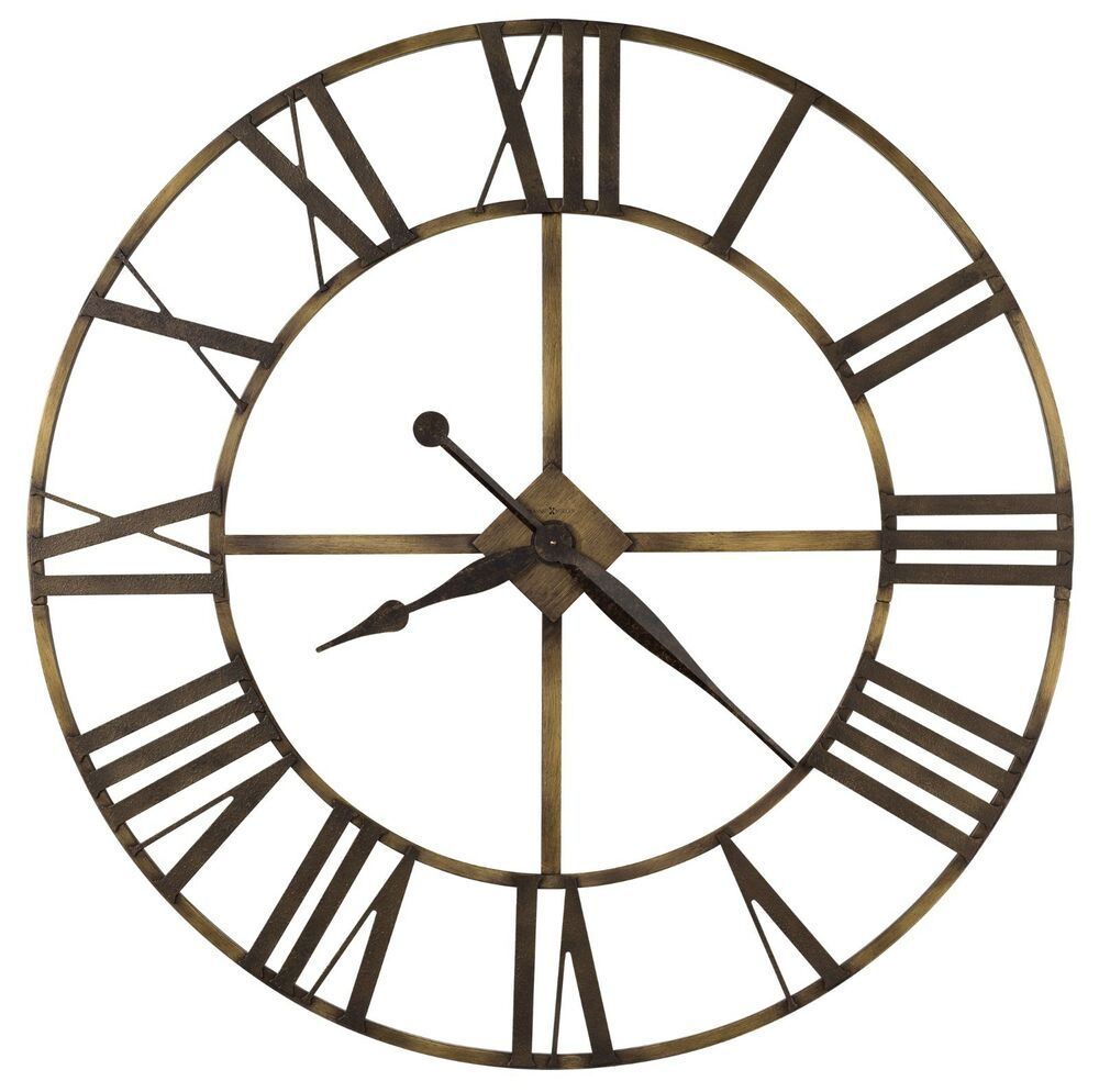 625 566 Wingate Oversized Gallery Wrought Iron Wall Clock