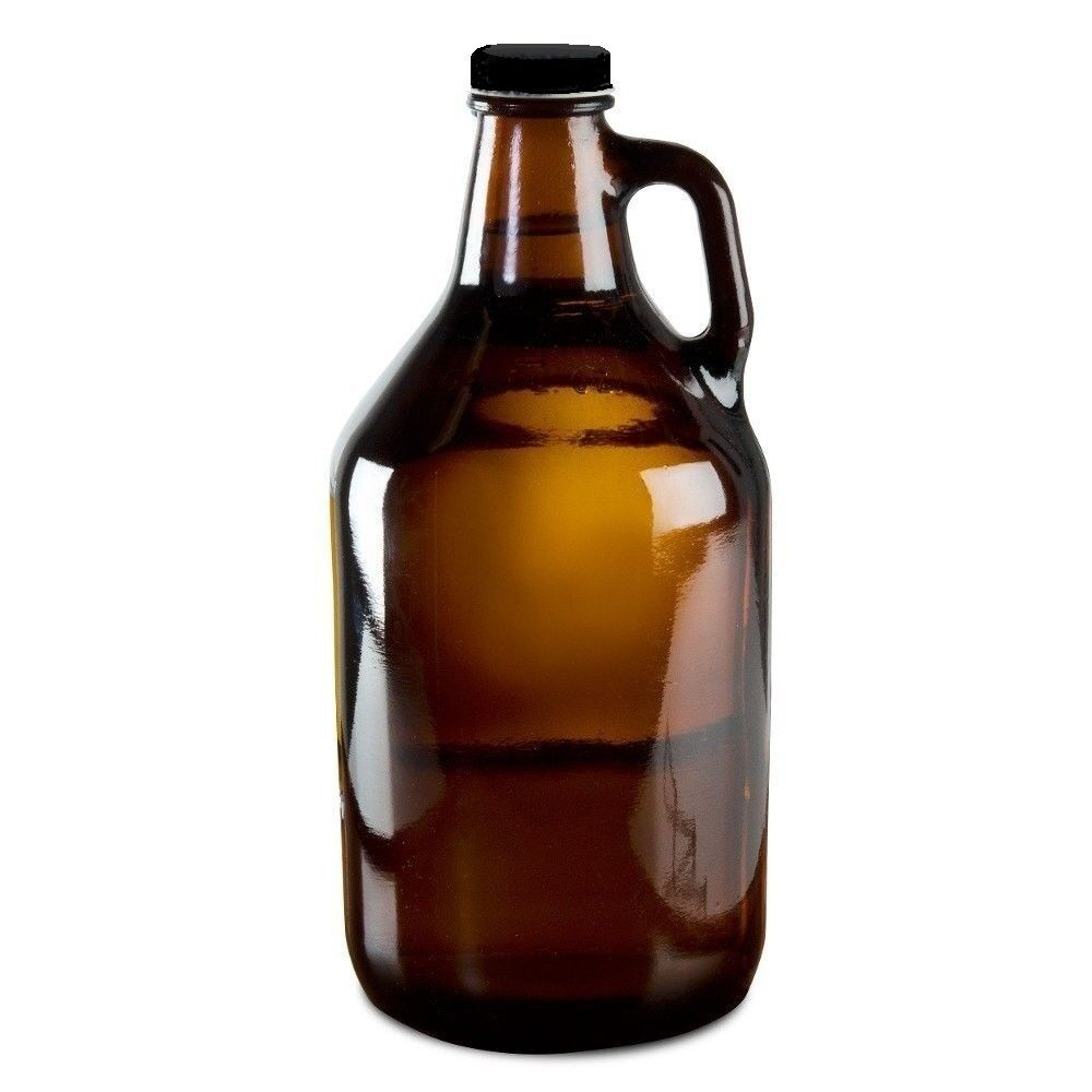 Beer Growler 1 2 Gallon Amber Glass Jug For Drinking Pub