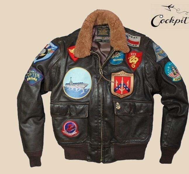 cockpit usa avirex movie heroes top gun flight jacket szs. Black Bedroom Furniture Sets. Home Design Ideas