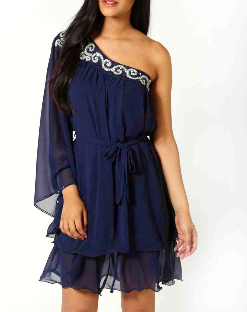 Womens Ladies Prom Party Dress Tunic Top Evening ...