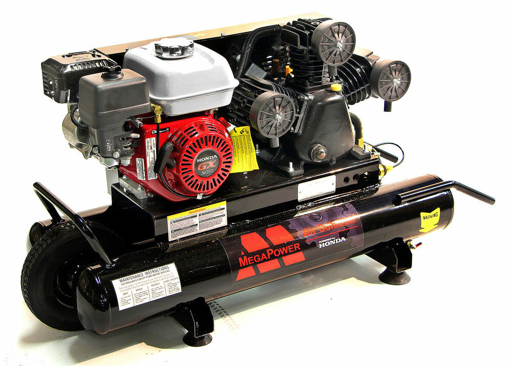 New 6 5 Hp Honda Engine Portable Air Compressor Single