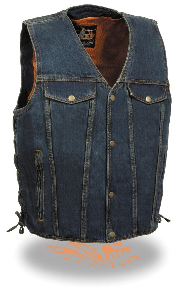 Harley-Davidson men's motorcycle vests are an international icon of biker style. Choose from leather, denim or fleece motorcycle vests and use them as the palette for your pins, patches and club insignias.