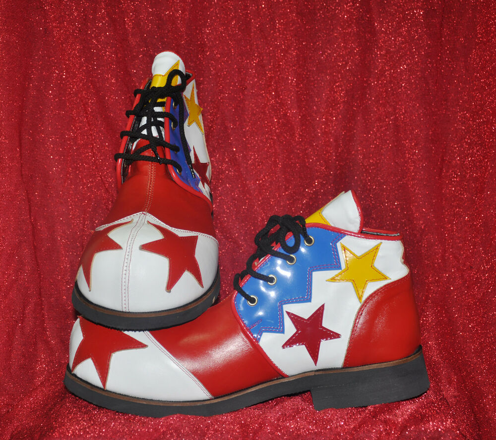 Red Leather Clown Shoes