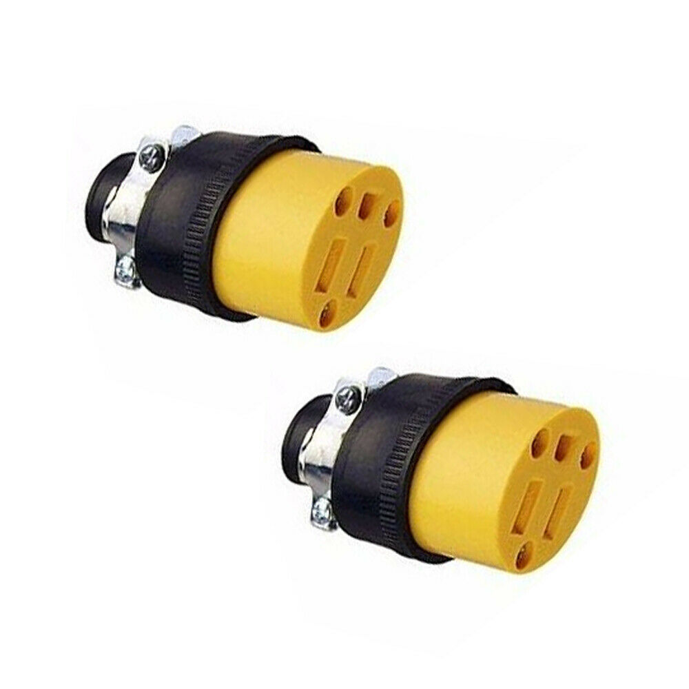 Pc female extension cord replacement electrical end plugs