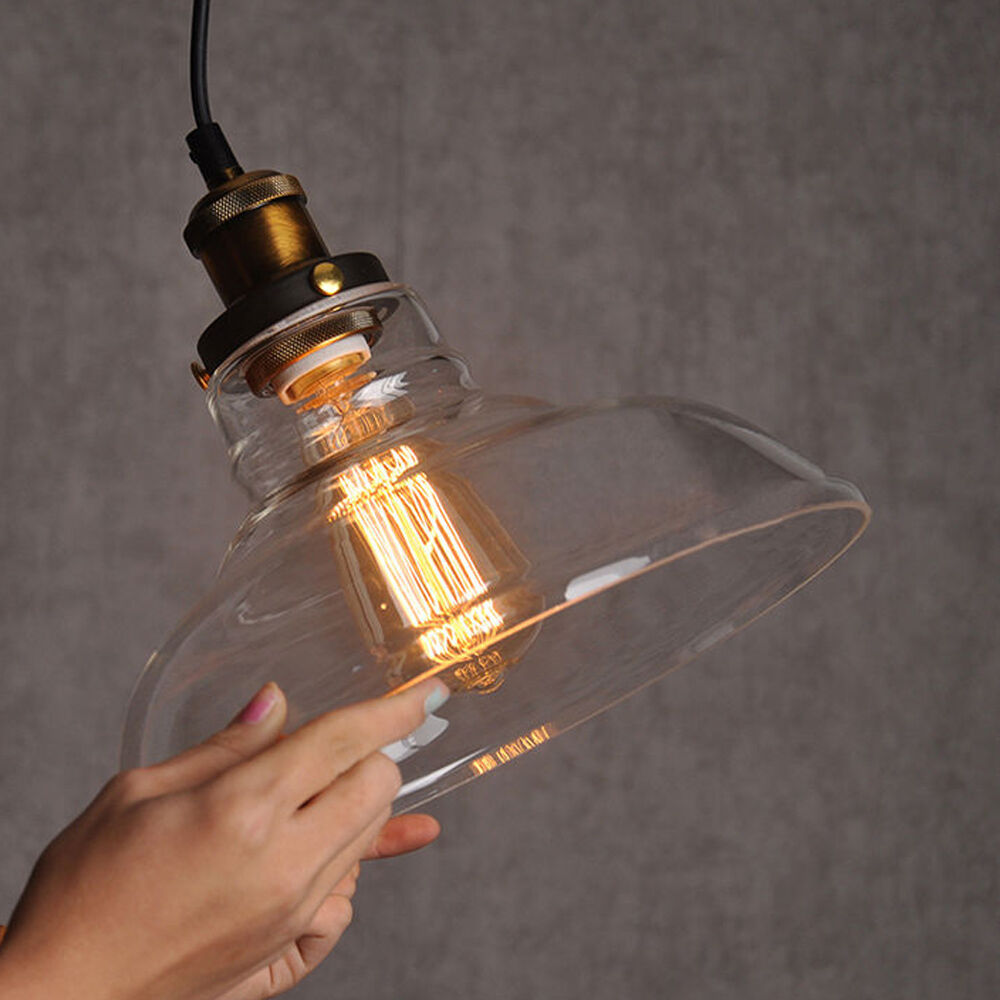 Industrial vintage pendant light fixture e27 edison bulb for Industrial lamp kit