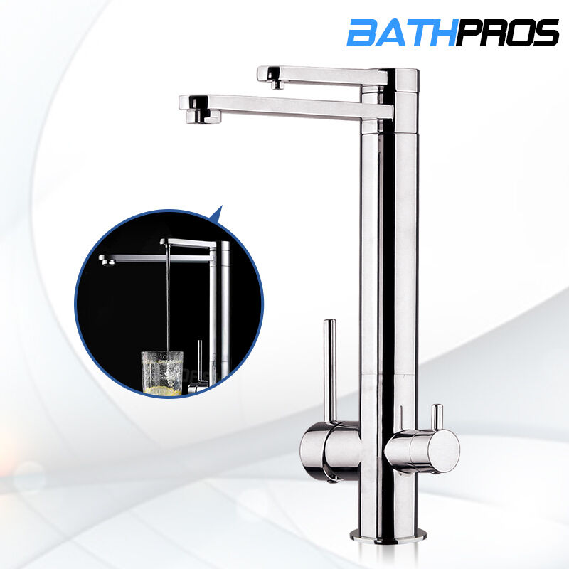 Dual Function Handle Pure Water Spout Kitchen Sink Faucet Swivel Tap Brass Mixer Ebay