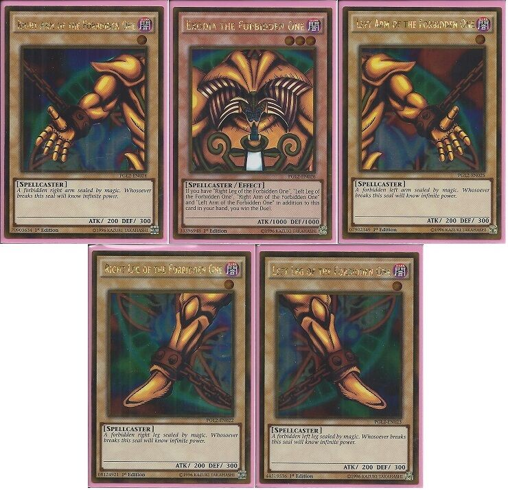Yu Gi Oh Card Back: Yu-Gi-Oh! Complete Exodia The Forbidden One *5* Cards 1st