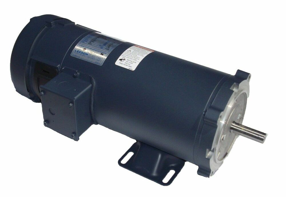 1 2hp 1750rpm 90v Dc 56c Frame Tefc Leeson Electric Motor