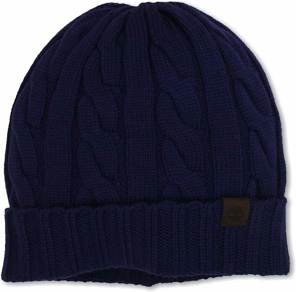Timberland Unisex Knit Cap Cable Merino Wool One Size Fits Most Beanie Hat Ebay