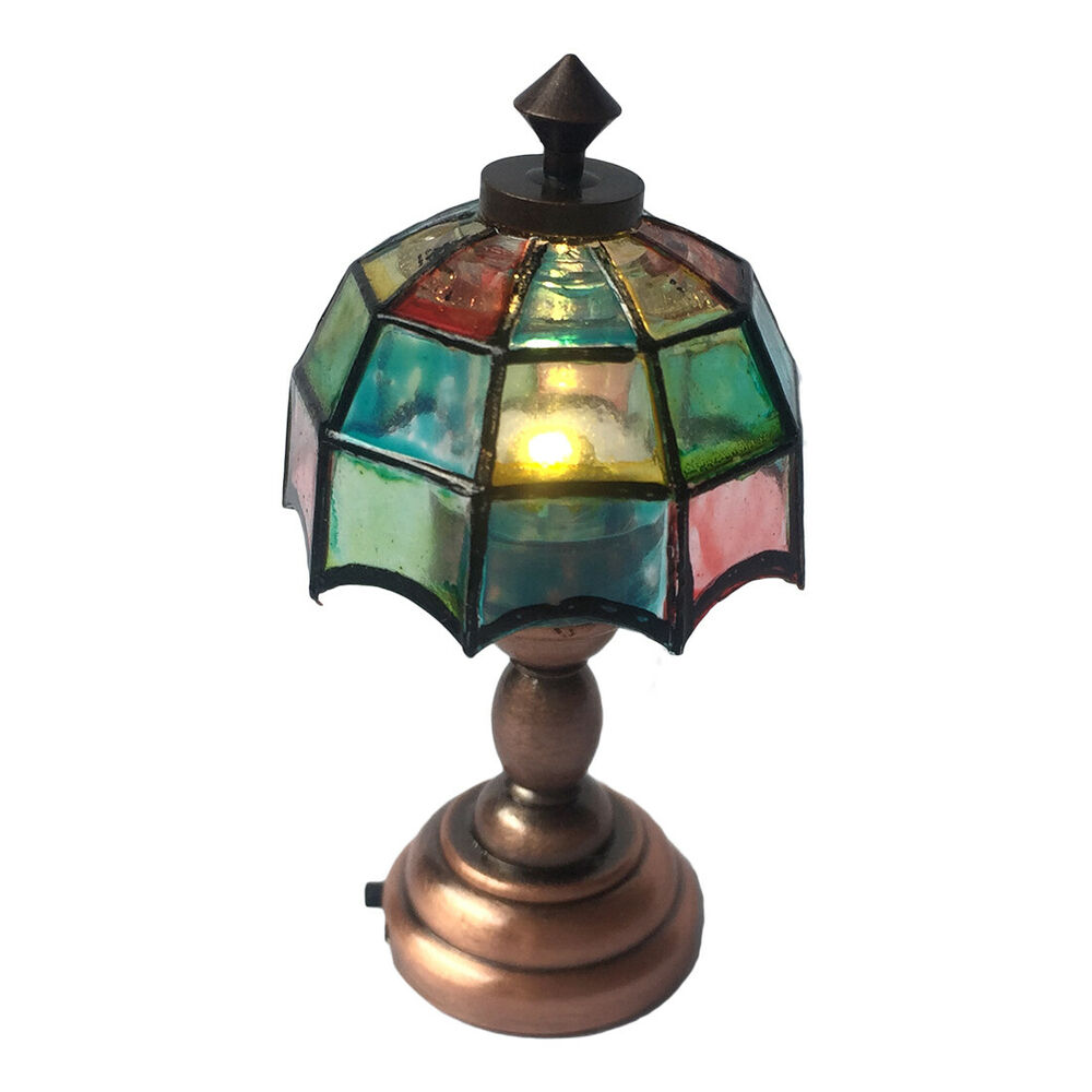Dollhouse Mosaic 3v Led Table Lamp With Switch Battery