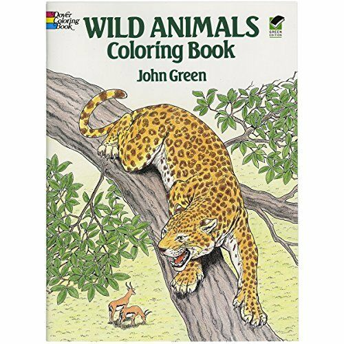 Wild animals coloring book dover nature coloring book by Crazy animals coloring book