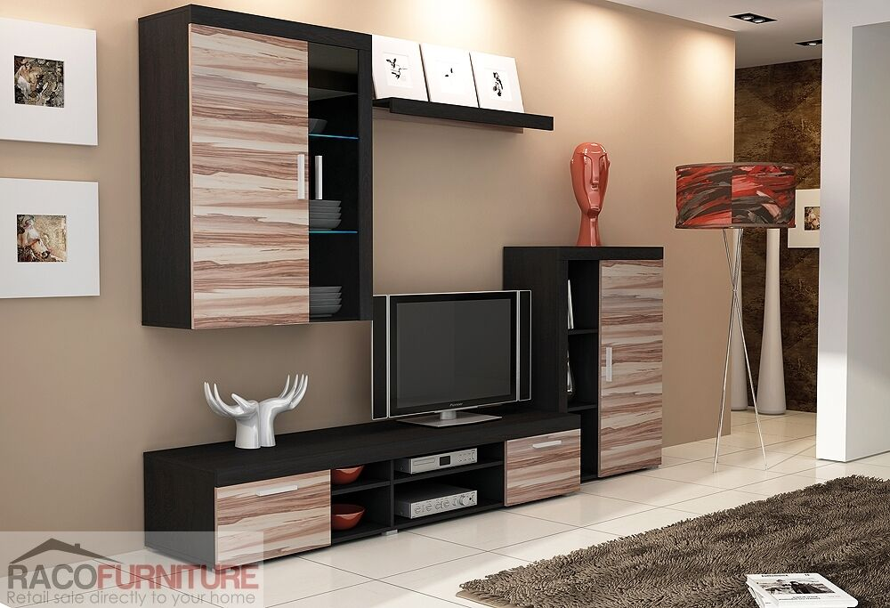 Tv Wall Unit Tom Ii New Modern Set Of Living Room
