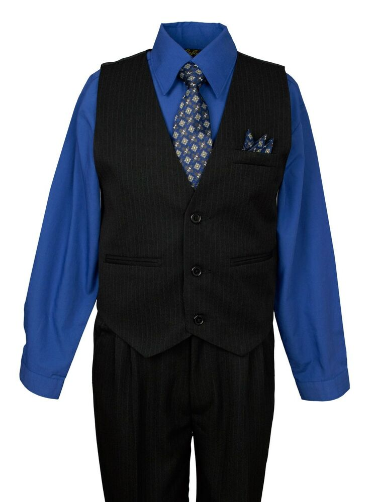 Boys Formal Tuxedo Vests And Suit Dress Vests Sets For Kids Children Sizes From Toddler to Teen Boys tuxedo vests with bow ties and neckties in many colors to match Wedding colors. As well as suit vest with matching pants and shirt and tie at great everyday low prices.
