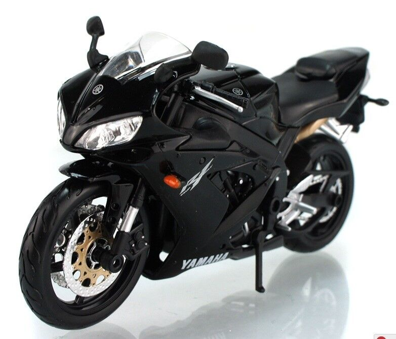 Maisto 1 12 yamaha yzf r1 motorcycle bike model black new for Yamaha r1 deals